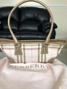 21965c39e08e Image is loading Authentic-Vintage-Burberry-Pink-Nova-Check-Small-Handbag