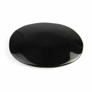 5.5x7.3cm Oval Black Obsidian Palm Stone Healing Crystal Gemstone Scrying Stone