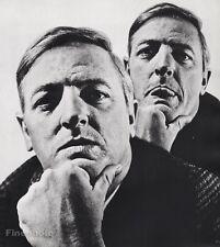 1967 Vintage 16x20 WILLIAM F BUCKLEY JR Author Commentator Art PHILIPPE HALSMAN