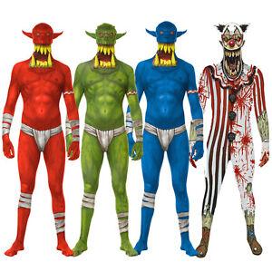 Image is loading Morphsuit-Jaw-Dropper-Orc-Clown-Halloween-Fancy-Dress-  sc 1 st  eBay & Morphsuit Jaw Dropper Orc Clown Halloween Fancy Dress Costume M ...