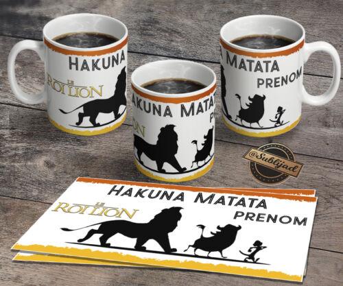 TASSE Mug Le Roi lion personnalisé avec le prénom de votre choix