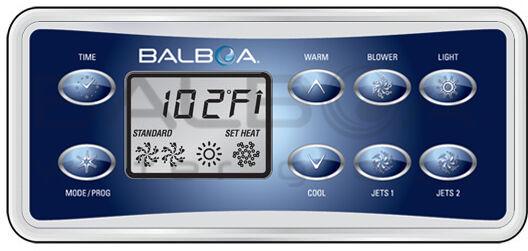 Balboa VL801D Parte súperior Teclado súperpuesta, 8 Botón Panel De Pantalla funcionan con GS523