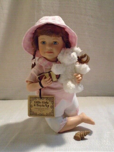2002 Boyds Bear Little Girls & Boyds BJ and Kenny Songs of the Sea Doll 4705