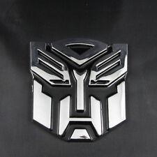 Classical Chrome 3D Transformer Autobot Logo Emblem Badge Sticker Decal