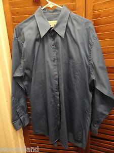Blue-Pronto-Uomo-Mens-Long-Sleeved-Dress-Shirt-16-1-2-32-33