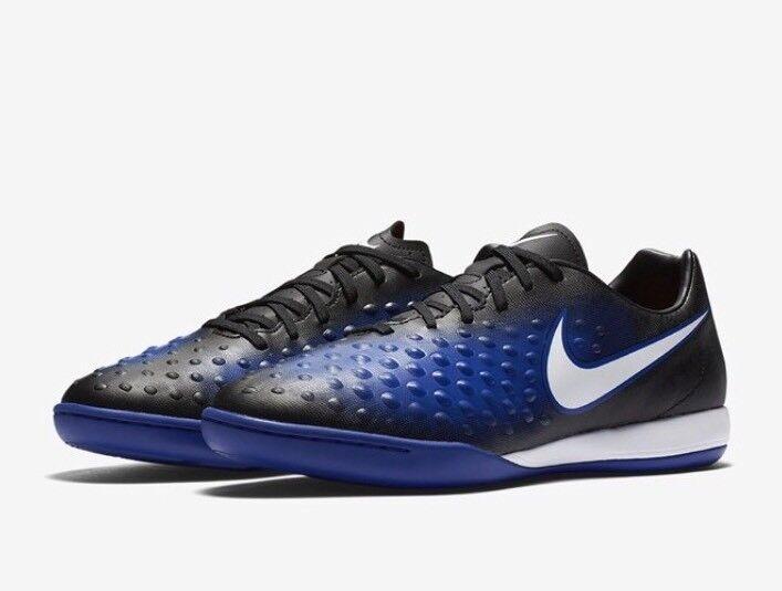 Nike Magista X Onda II IC Men's Men's Men's Indoor Soccer Shoes Black Blue 844413 015 Size 8 4a5f7f