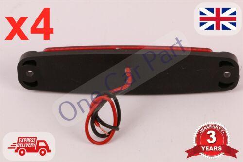 4x 6 Led Truck Side Marker Indicator Light Lamp 12v Red E certified High Quality