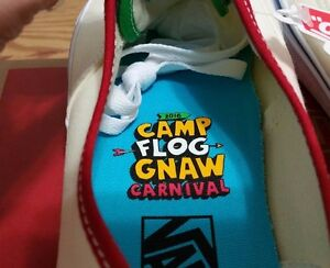 fed18f29fe1884 Vans X CFG Camp Flog Gnaw Festival Authentic Size 10 golf wang ...