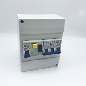6-Pole-Surface-Switchboard-Enclosure-w-5X-10-16-20-40-40-AMP-Circuit-Breakers