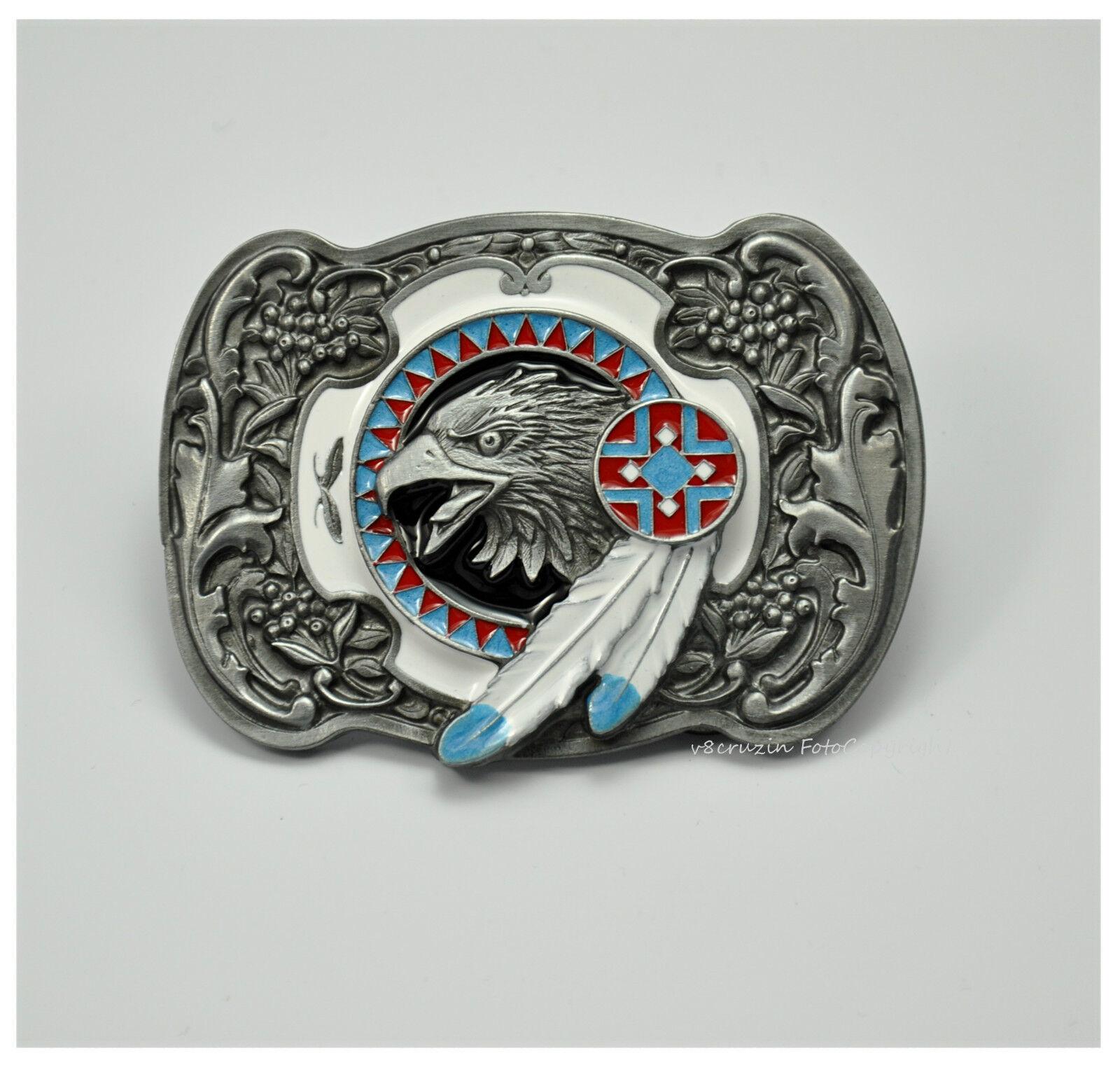 Adler Gürtelschnalle Western Indianer Cowboy Line Dance Belt Buckle *590
