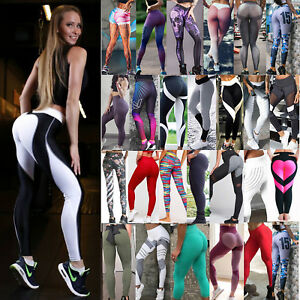 Women-Yoga-Fitness-Leggings-High-Waist-Running-Gym-Stretch-Sports-Pants-Trousers