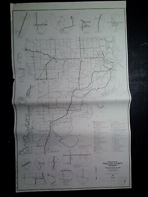 Vintage 1967 18x30 Arkansas General Highway Map Phillips County | eBay