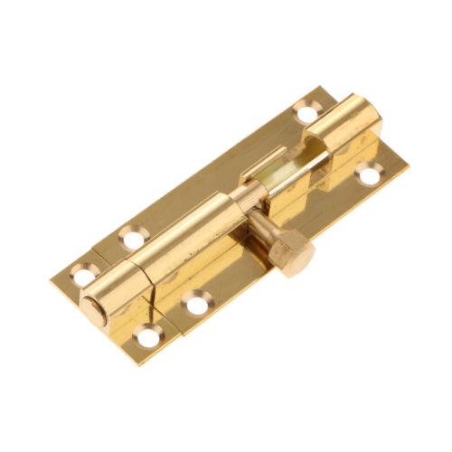 Brass Door Slide Catch Lock Bolts Latch Barrel Home Gate Safety Hardware #2