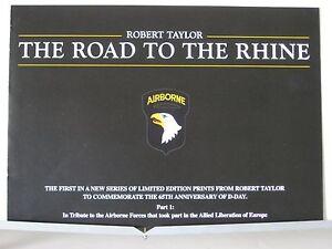The-Road-to-the-Rhine-C-47-Dakota-Airborne-Robert-Taylor-Aviation-Art-Brochure