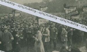 München: Königsplatz - Kundgebung -  Gau der Landfahnen -  um 1920       X 30-8