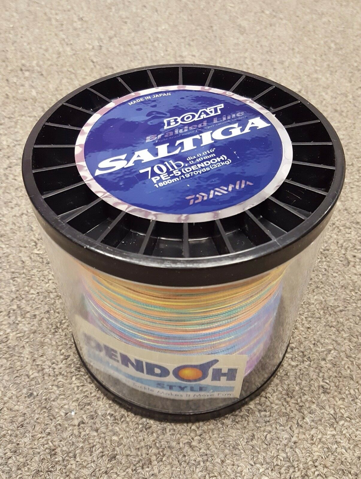 Daiwa Saltiga Boat Braided Line Multi-color 70lb 1800m 1970 yards - SAB-B70LB