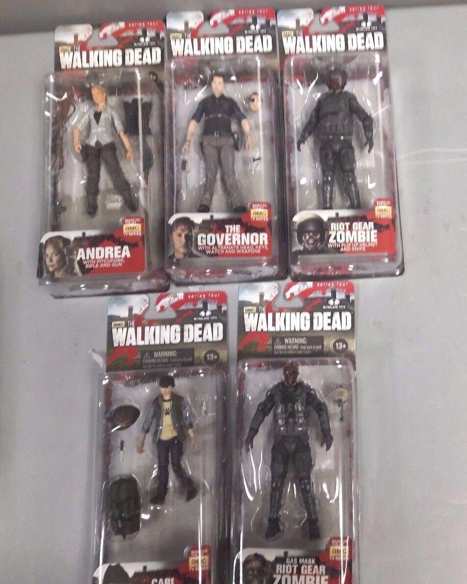 Walking Dead Serie 4 El Gobernador Andrea Carl Grimes 5 A344 Lote De Figuras De Acción