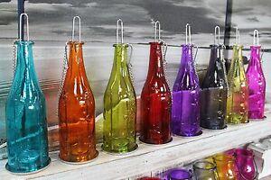 Linterna-De-Botella-Vidrio-Reciclado-En-Relieve-De-Flores-Sostenedor-de-Vela-Colgante-vino