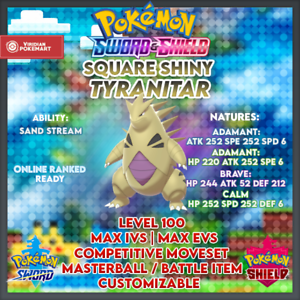 Ultra Shiny Tyranitar | Pokemon Sword & Shield | 6IVS ...
