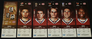 2009-MONTREAL-CANADIENS-NHL-COMPLETE-UNUSED-TICKETS-6-PRICE-HALAK
