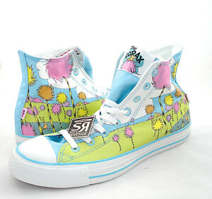 New-Converse-DR-SEUSS-The-Lorax-Hi-All-Star-Chuck-Taylor-Blue-Green-White-Shoes