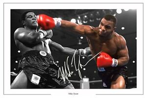 IRON MIKE TYSON BOXING SIGNED AUTOGRAPH PHOTO PRINT