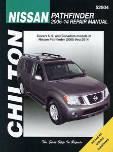 nissan pathfinder repair manual chilton 2005 2014 52504 ebay rh ebay com 2005 pathfinder repair manual 2005 nissan pathfinder repair manual free
