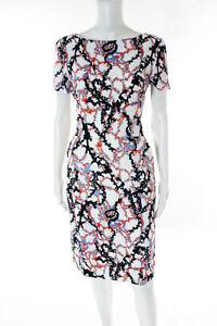 Mary-Katrantzou-Multi-Color-Abstract-Short-Sleeve-Dress-Size-10-2180-New-120102