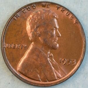 1953-P-Lincoln-Wheat-Cent-UNCIRCULATED-BU-UNC-FAST-S-amp-H-78177