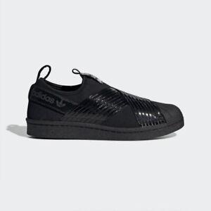 New-Adidas-Originals-Superstar-Slip-On-W-BD8055-Triple-Black-Shoes-Sneakers