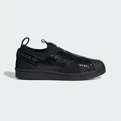 competitive price dc3be c01de New Adidas Originals Superstar Slip On W BD8055 - Triple Black, Shoes  Sneakers | eBay