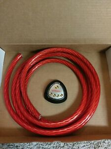 Red 0 AWG Gauge 10 Feet Wire With Power Distribution.  New in Open Box.