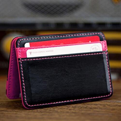 Nouveau Mini neutre Magic deux volets en cuir portefeuille porte-carte portefeuille sac à main argent clip