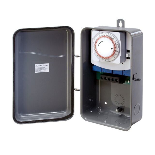 New Westek 24 Hour Outdoor Lighting Pool Spa Mechanical Box On Off Timer Switch