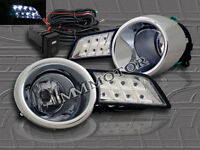 2008-2010 Toyota Highlander Clear Fog Lights + Switch + Wire + Led Cover Lights