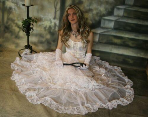 Rock  Elvira schwarz 36 38 40 42 Neu Rock Braut Gothic Wave  Victorian Tüll