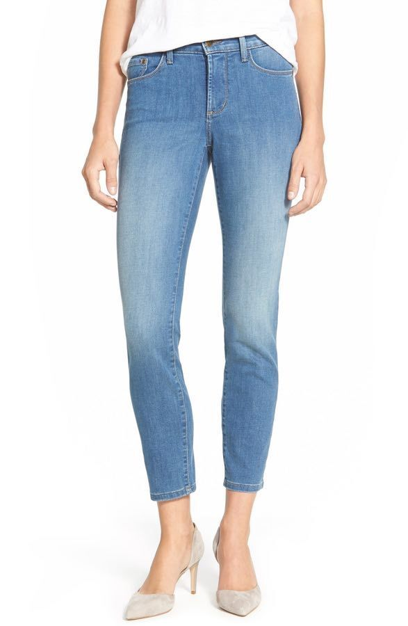 NYDJ 'Nichelle' Stretch Slim Ankle Jeans Upper Falls M44P06UR Blau 16