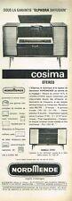 F- Publicité Advertising 1961 Meuble Recepteurs radio Cosima NordMende