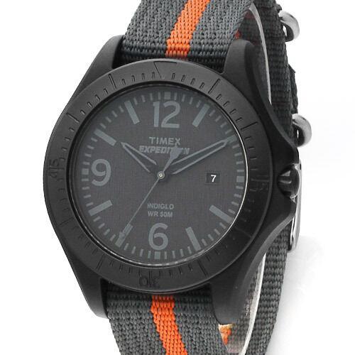 Timex T499332  Expedition Quartz Indiglo Black Nylon Band Men's  Analog Watch
