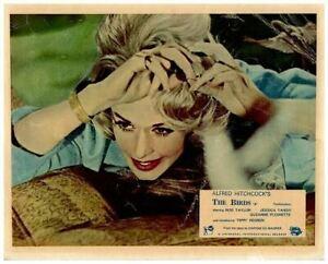 I volatili ORIGINALE LOBBY CARD ALFRED HITCHCOCK TIPPI hendren BIRD ATTACCO 1963