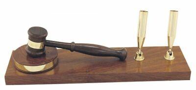 rustikal magicaldeco Stifthalter aus Holz und Messing