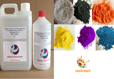 RESIN4ART DELUXE METALLIC SPARKLING COLOUR PIGMENT COLLECTION FOR EPOXY RESIN