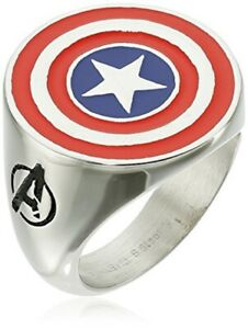 Captain America Logo Stainless Steel  Premium Quality Mens Ring 11 Size