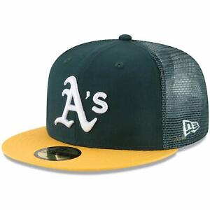 Oakland Athletics New Era On-Field Replica Mesh Back 59FIFTY Fitted Hat - Green