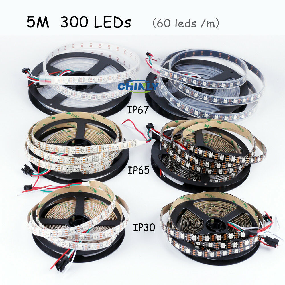 Chinly 5m Ws2812b Individually Addressable Led Strip Light 5050 Rgb Digital Weatherproof 60 1m Rescontentglobalinflowinflowcomponenttechnicalissues