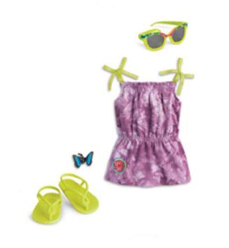 "American Girl LE LEA BEACH DRESS for 18/"" Dolls Lea/'s Sandals Clothes Beach NEW"