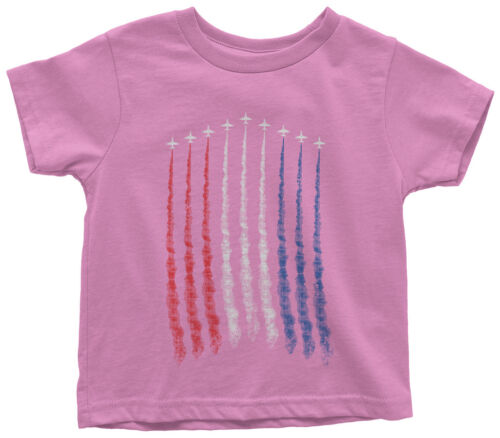 Red White Blue Air Force Flyover Toddler T-Shirt US Military Family