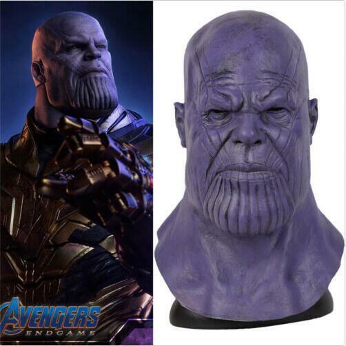 Endgame Thanos Cosplay Mask  Props Full Face Helmet Latex Halloween Avengers