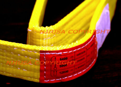 """TWO 2x EE2-902 x 4ft 2 Ply Polyester Web Lifting Sling 2/""""x4/' Lifting Tow Strap"""