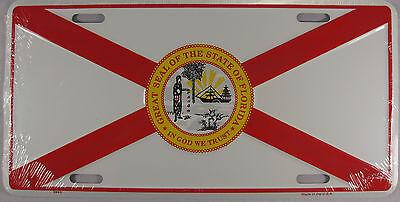 FLORIDA FLAG METAL LICENSE PLATE FL STATE SIGN L217